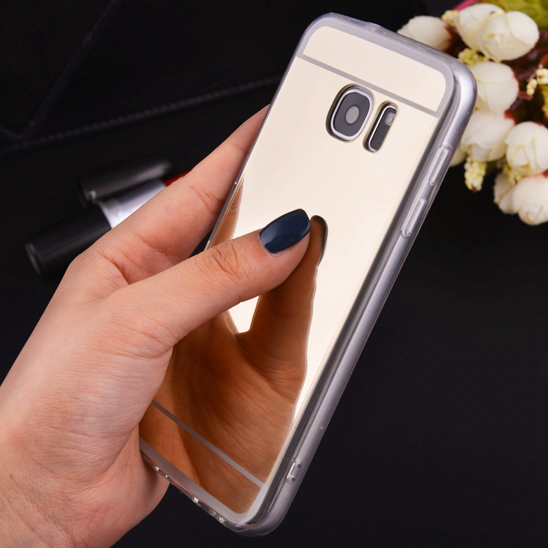 Mirror Electroplating Soft Cases Protection Back cover For Samsung Galaxy G903F S6 S7 edge S6edge S7edge G935F