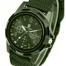 Men Casual Wristwatch Soldier Military Army Men 's Sport Style Canvas Belt Quartz Wrist