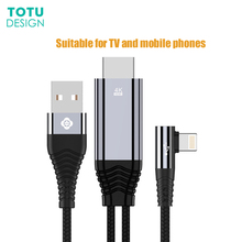 2.4A 4 k3.5 m Cabo USB Pin para HDMITV Adaptador TV de Jogo for Lightning HDMI iphone X Ar iPad Apple iOS