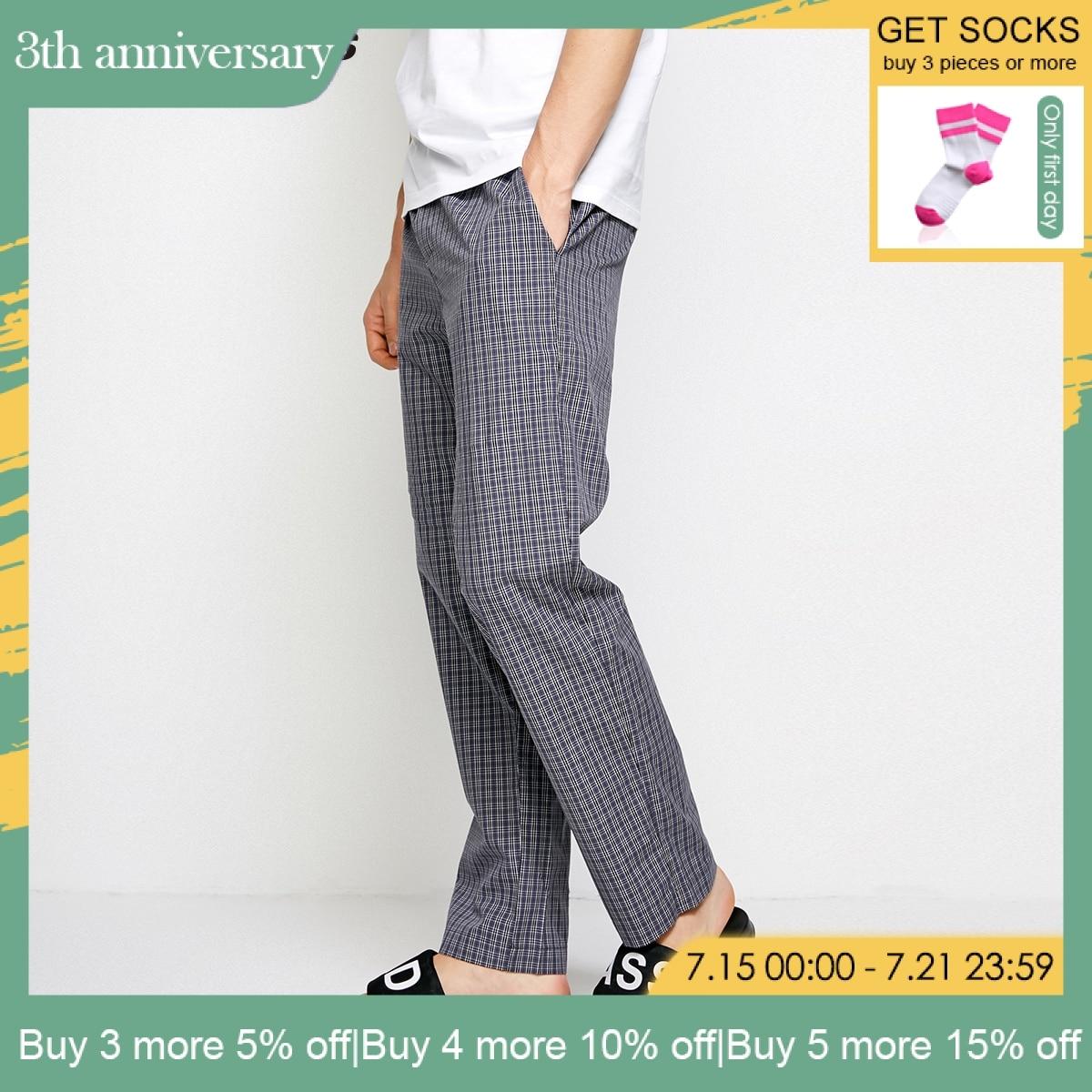Jack Jones Spring Summer New Men Cotton Casual Plaid Pants Trousers 2183HC501