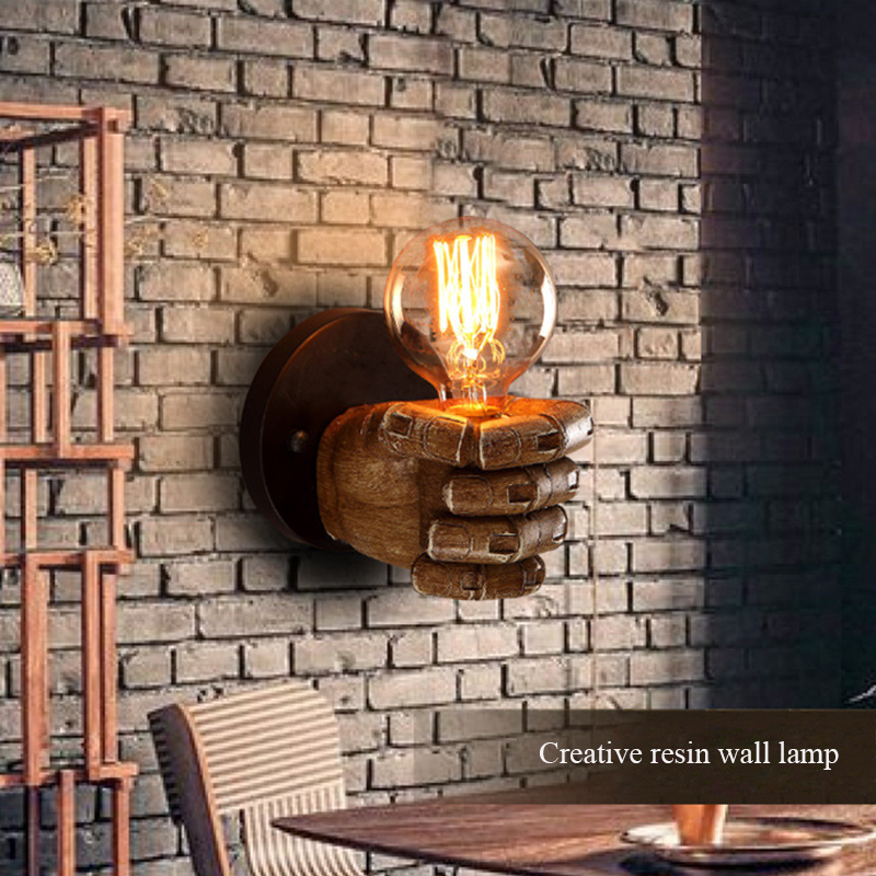 Sconce Led wall lights hallways bedroom surface mounted creative right and left hand led wall lamp retro lighting fixtures, e27 free shipping retro left hand wall sconces lights fixtures brown color bedroom fist wall lamps