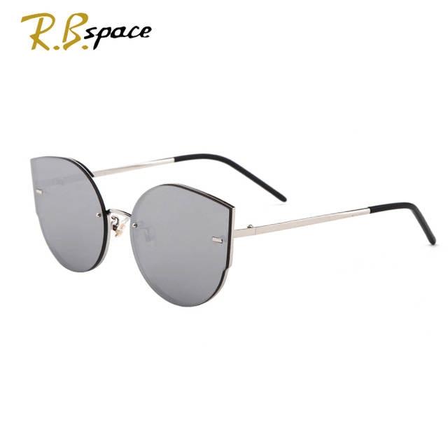 f9488f0740415 R.B.space summer Fashion Color transparent Women Sun glasses Oversized Cat  Eye Sunglasses Woman Luxury Brand
