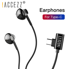 !ACCEZZ USB Type C Earphones Wired Earphone With Magnetic For Xiaomi Max 2 Mi6 Huawei Mate 10 Samsung S9 In Ear Earbuds