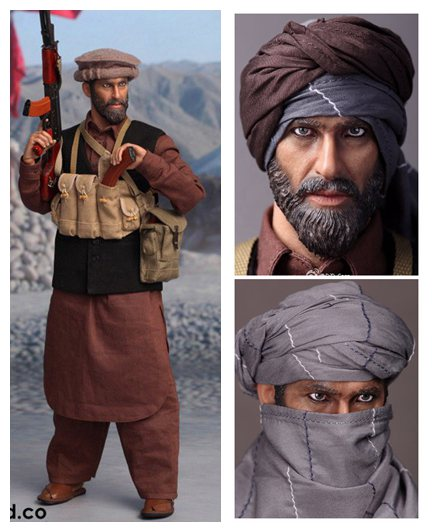 1/6 figure doll Afghanistan Civilian Fighter Asad The Soviet Afghan War 1980 12 Collectible figure doll  Plastic model toys