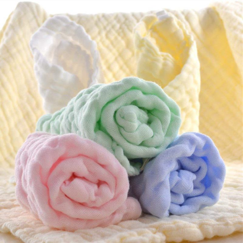 6 layers of washed gauze square towel cotton handkerchief 30x30 small washable wipes