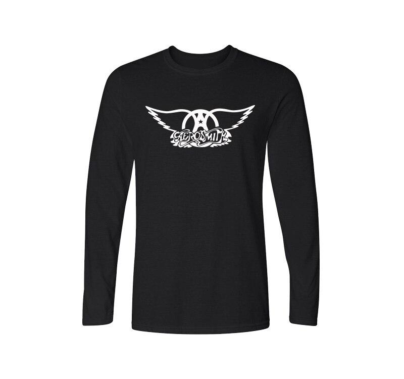 2017 New Spring Aerosmith T Shirt Men Rock Band T Shirts Men Long Sleeve Cotton Rock