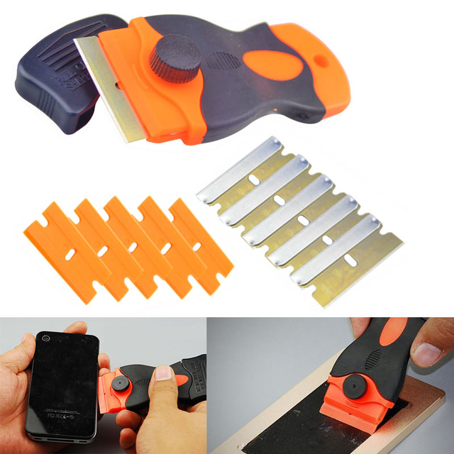 AETool UV Glue Remover Scraper Knife for Mobile Phone LCD Touch Screen  Residue Adhesive Cleaning Repair Tools With 10Pcs Blades-in Hand Tool Sets  from