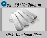 30 70 200mm Aluminum Alloy 6061 Plate Aluminium Sheet DIY Material Free Shipping