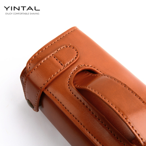 Image 5 - YINTAL Manual Shaving Razor Portable Shaving Brush Travel Leather Bag For Double edge Safety Razors Box (Only 1 box)