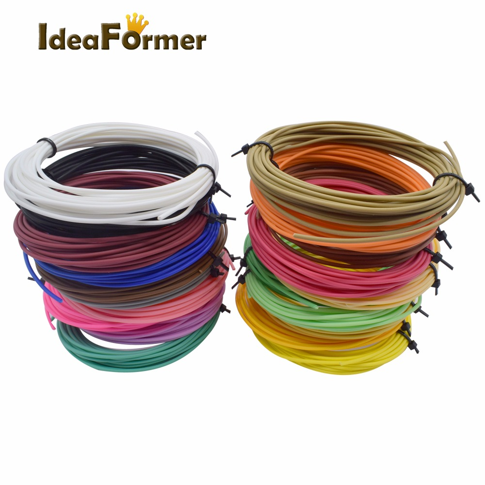 3D printing pen low temperature filament PCL plastic 1.75mm 3D Printer Filament Materials (5M/color ) Cryogenic material 12