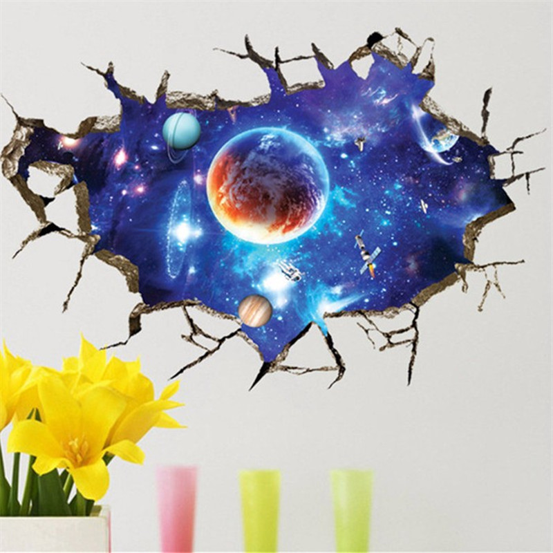 3d outer space planet wall stickers beautiful galaxy for 3d outer space