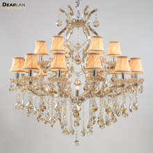 Modern Clear Crystal Pendant Lamp Chandeliers for Lobby Maria Theres MD8476T L18