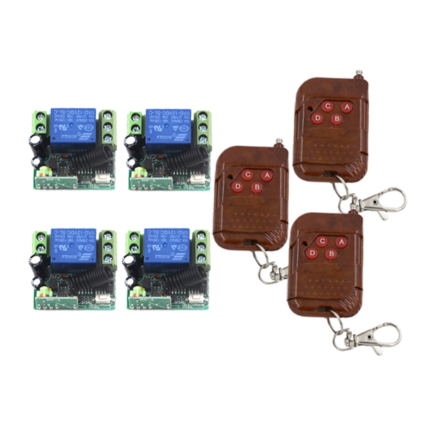 MITI- 12V 1 Channel relay remote control switch system 10A 4 Receiver & 3 Transmitter model SKU: 5426 купить