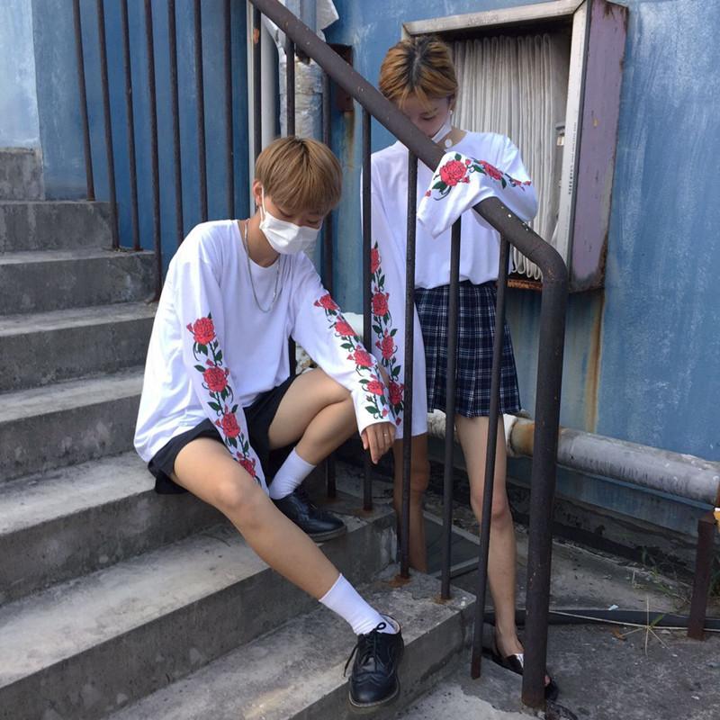 HTB1EYPxPVXXXXbxXXXXq6xXFXXXT - T Shirt Style Thin Long Sleeve Print Flower Rose PTC 145
