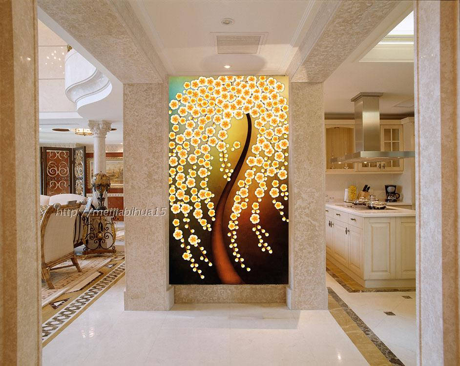 Entrance Hallway Dining Room Wallpaper Background 3D Large Mural Wall Vertical Version Of The Money