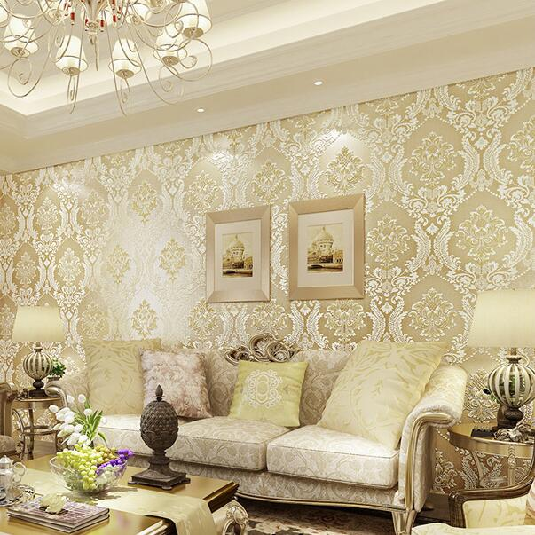 Aliexpress.com : Buy European Embossed Damask Wallpaper 3D ...