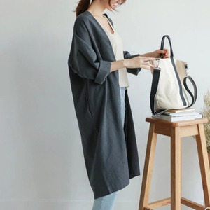 Image 5 - LANMREM 2020 autumn New Casual Fashion Temperament Women Jacket Loose Plus Solid Color Single breasted Cotton Cardigan TC465