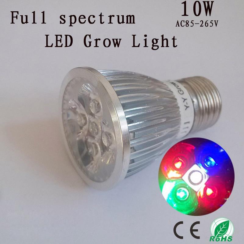 full spectrum led grow light 10w e27 for seedlings growth flowering. Black Bedroom Furniture Sets. Home Design Ideas