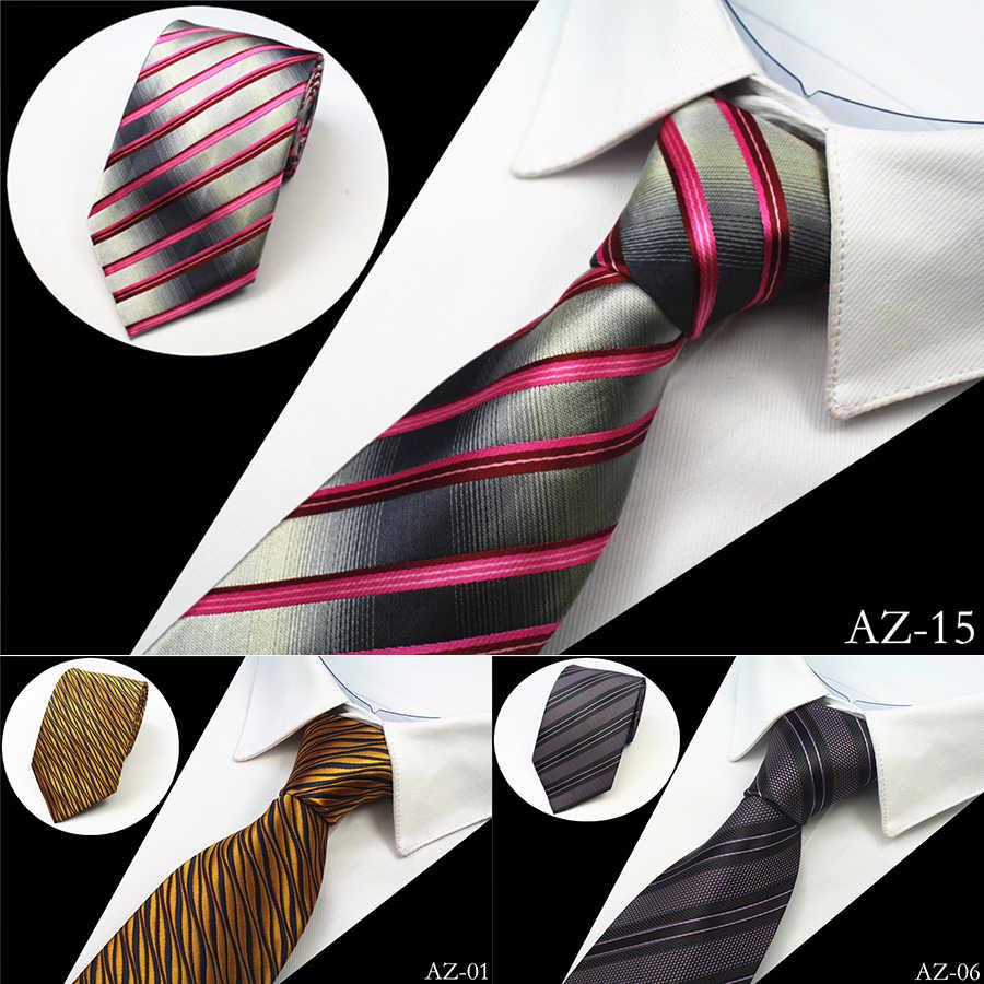 Ricnais новый дизайн 100% Шелковый мужской галстук 8 см Полосатый Классический деловой шейный галстук для мужчин костюм галстук для свадебной вечеринки Заводская распродажа