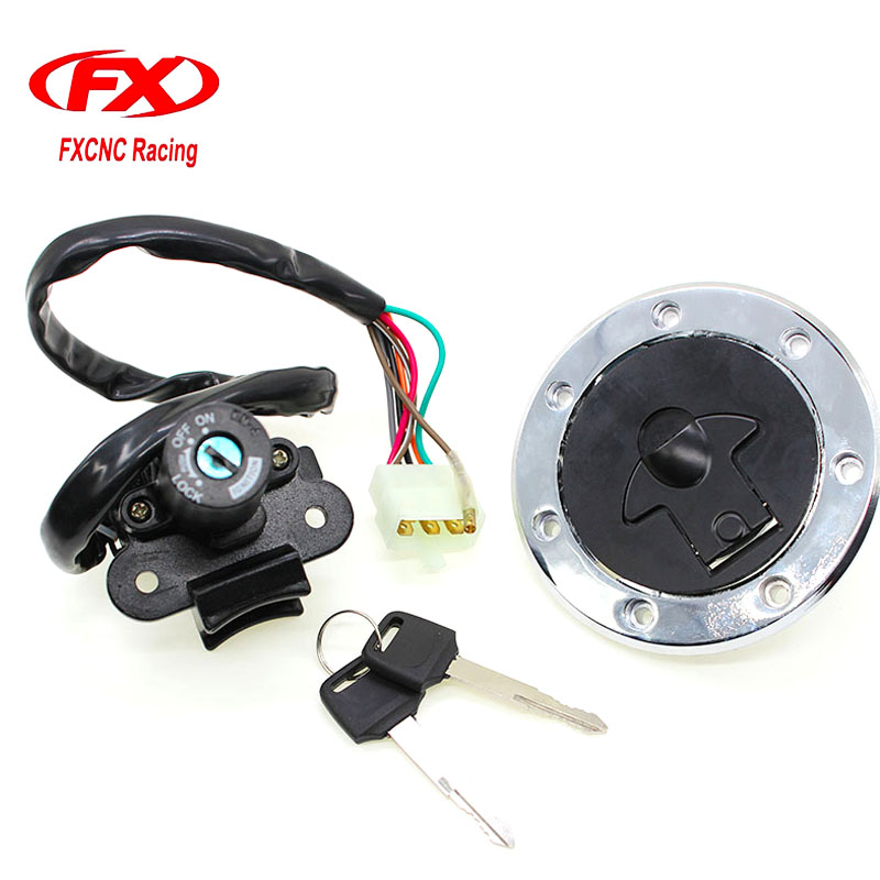 Fxcnc Motorcycle 12v Ignition Switch Lock Fuel Tank Gas