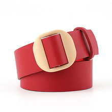 105x3.8cm New Wide High Quality PU Leather Belt For Women Gold Belts Female Dress Clothes Lady Wedding Party