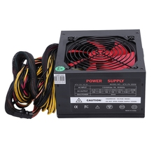 170-260V Max 650W Power Supply Psu Pfc Red 12Cm Silent Fan 24Pin 12V Pc Computer Sata Gaming Pc Power Supply For Intel Amd Com