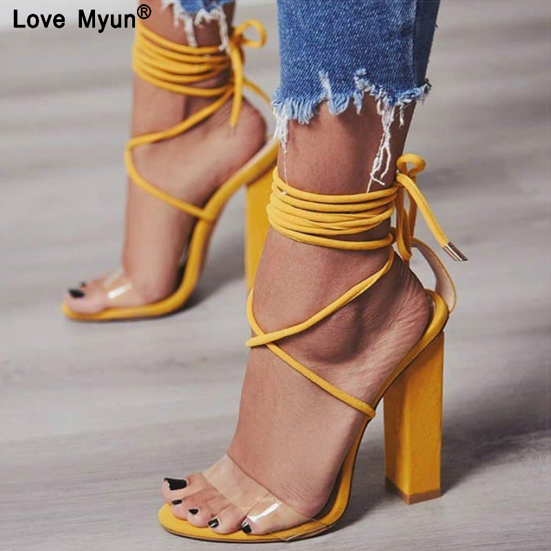Women Pumps 2018 Summer High Heels Sanda