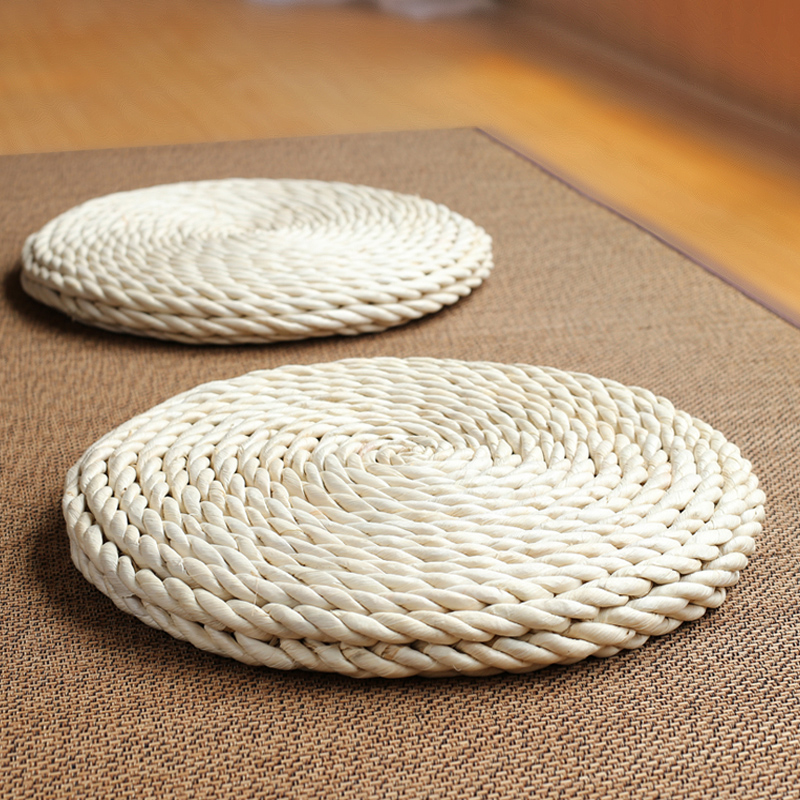 Garden Corn Pads Cushion Tatami Windows Floor Murals Mats Meditation Yoga Straw Mattress Cushion Home Textile Murals Accessories