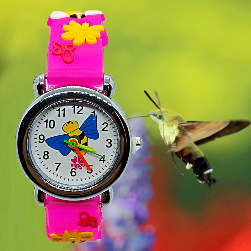 Cute Moth Butterfly Pattern Kids Watch Quartz Analog Children Watches For Child Boys Girls Student Clock Gift Relogio Feminino