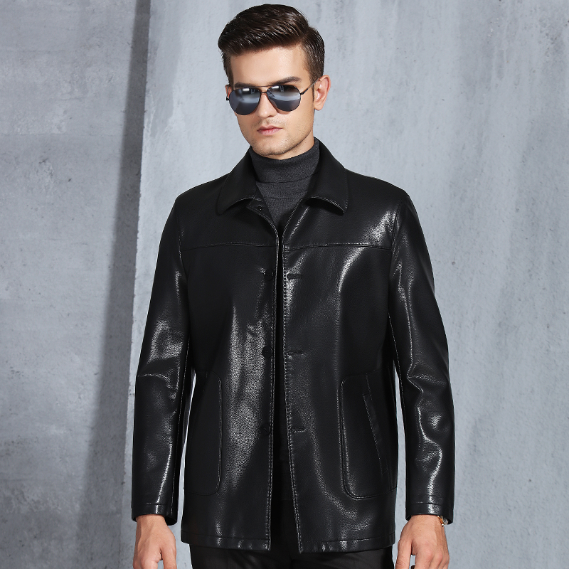 6b635af00 US $70.26 49% OFF|Hot Sale Genuine Leather Jacket Brand Streetwear Bomber  Jacket Mens Jackets and Coats Turn down Collar Genuine Jacket Men-in  Genuine ...