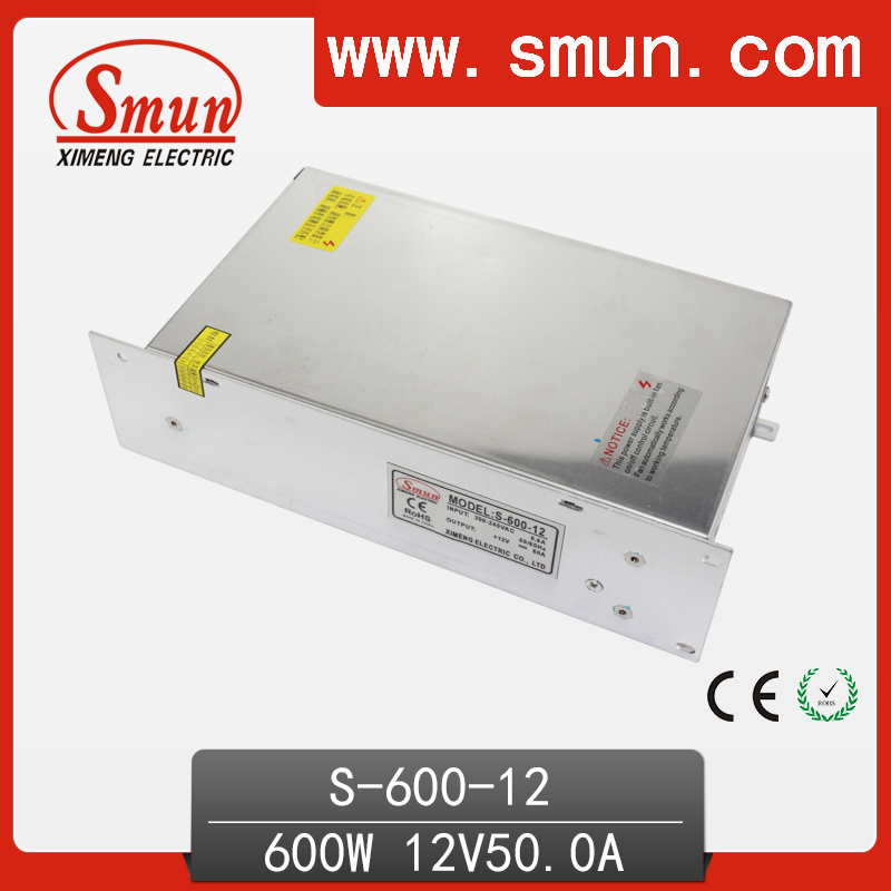 600W 12V 50A Single Output Switching Power Supply With CE ROHS From China Supplier Industrial and Led Used industrial machinery switching mode power supply 36v 16 6a 600w sp 600 36 with ce certified