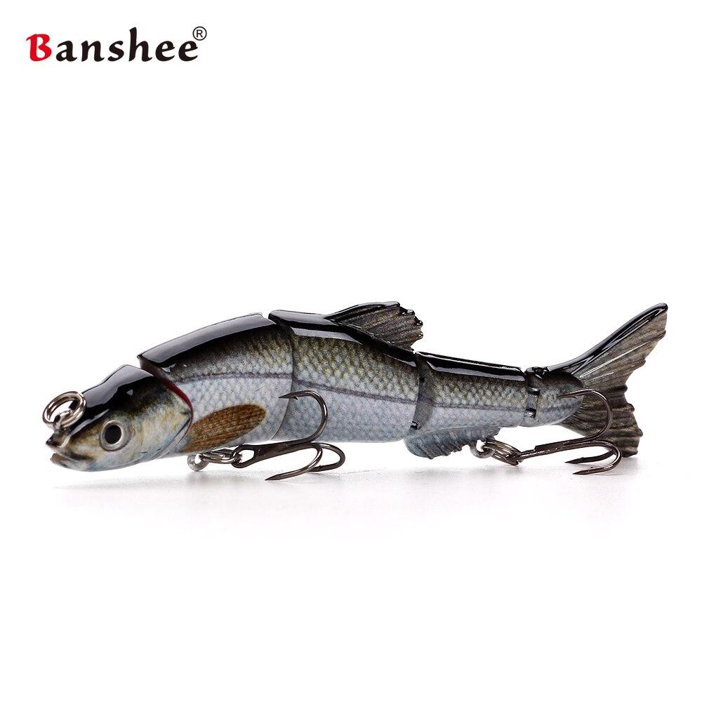 Banshee 100 мм 10 г Рыболовные приманки VMJM05-4.5 Swimbait шарнирные разделы жесткий искусственные приманки BASS PIKE судак Рыбалка воблер