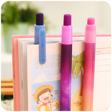 6 pcs/Lot Dream and explore gel pen Starry star black ink pens 0.5mm black ink canetas Stationery Office School supplies CB585