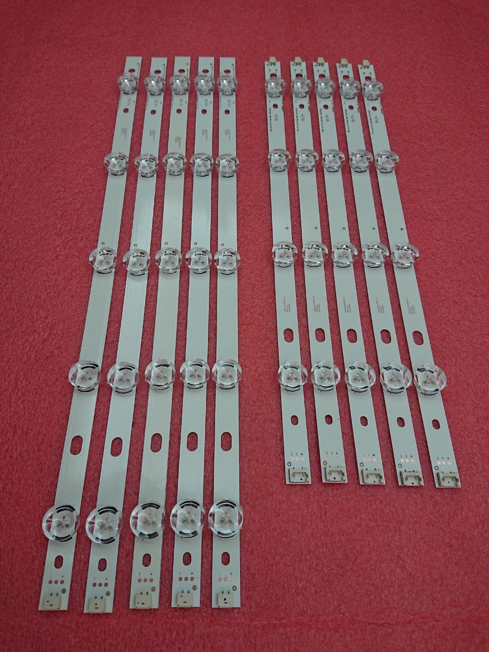 New 5set=50 PCS LED Backlight Strip Replacement For LG T420HVN05.2 Innotek POLA2.0 42 Inch A B POLA 2.0 42