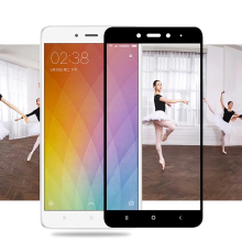 Full Cover Colorful Tempered Glass For Xiaomi Redmi Y1 4X 4A 4 pro 3 Note 4X 4 3 Full Coverage Screen Protector Toughened Glass