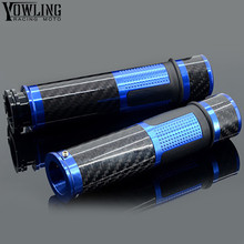 Universal 7/8 22mm cnc Carbon fiber motorcycle  handlebar Grips for yamaha TMAX 500 08-11 T-MAX 530 12-14 XP530 XP500