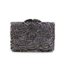 2016 neue Ankunft Heißer Verkauf Klappe Europäischen Luxus Volle Liefern Hohlbohrer Von hochwertigen Kristall Diamant Abendessen Abend tasche Hand