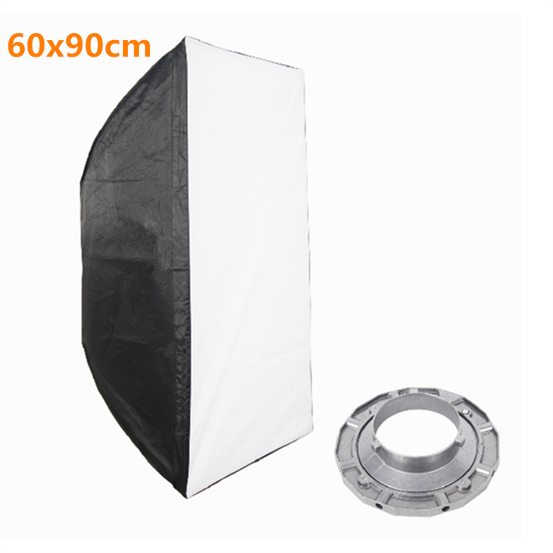 60x90cm Softbox Reflector with Bowens Mount for Studio Flash Photo Studio Soft Box Photography Accesorios Fotografia Light Box