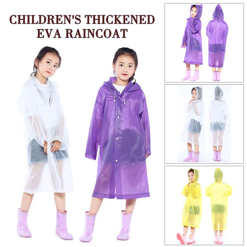 Kids Children Waterproof Raincoat Student Poncho Girls Princess Hooded Rain wear