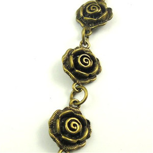 1Meter 1Lot Antiquqe Style Bronze Tone Flower Jewelry Necklace Chain 13*13*5MM (30426)