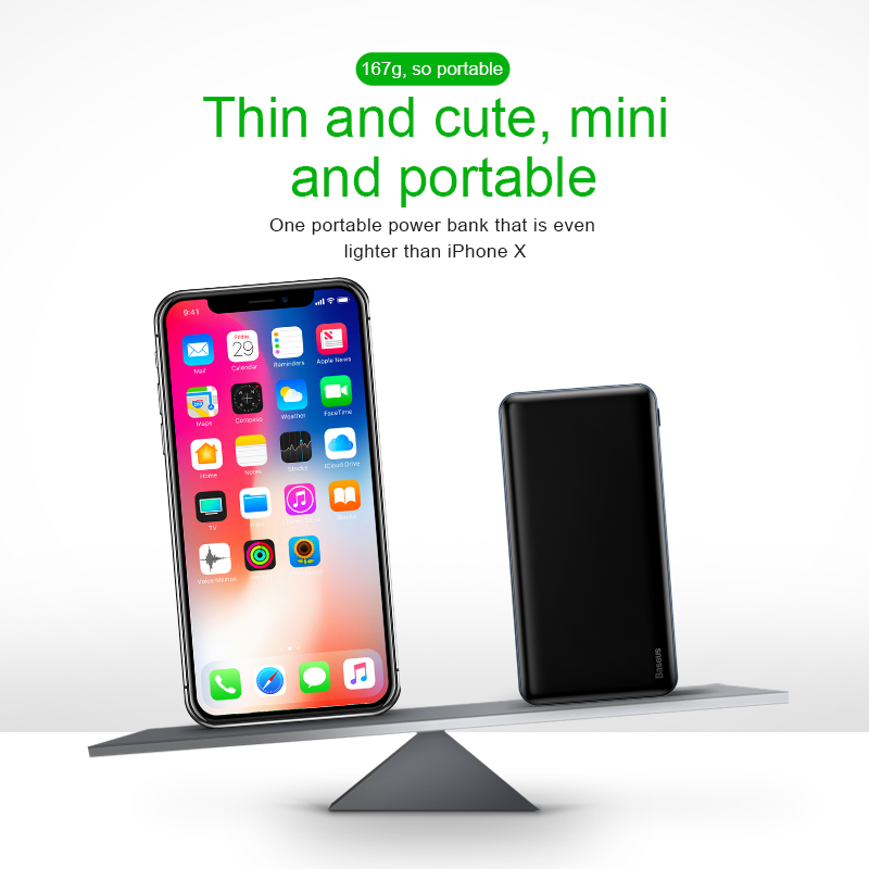 Power bank for iPhone - 10000 mah power bank fast charging 3.0 with USB PD two-way charging 5