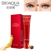 BIOAQUA Ginseng Snail Eye Cream Hydrating Moisturizing Anti-Aging Anti-Puffiness Remove Dark Circles Skin Care Serum 20g