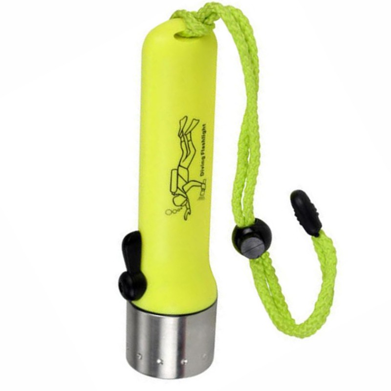 Yellow Super Underwater 1200LM CREE XM-L XPE LED Waterproof Diving Flashlight Torch Lamp Light