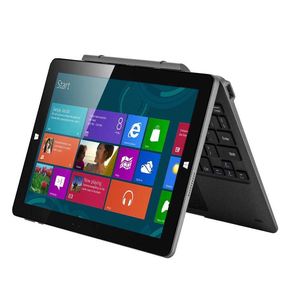 Aoson 10.1 inch Tablet Windows10 Quad Core Cherry Trail Z8350 up to 1.9Hz RAM 4G ROM 64G IPS  Dual Camera OTG with keyboard