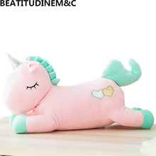 Cute Winter Warm Unicorn Toy Doll Hand Warmer Pillow 3 in 1 Blanket Plush Child Baby Home Decor Gift