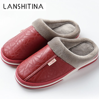 New Slippers Women Indoor Waterproof Winter Slippers Anti Dirty Fur Shoes Flats Plush Warm House Slippers Non-slip Big Size35-50