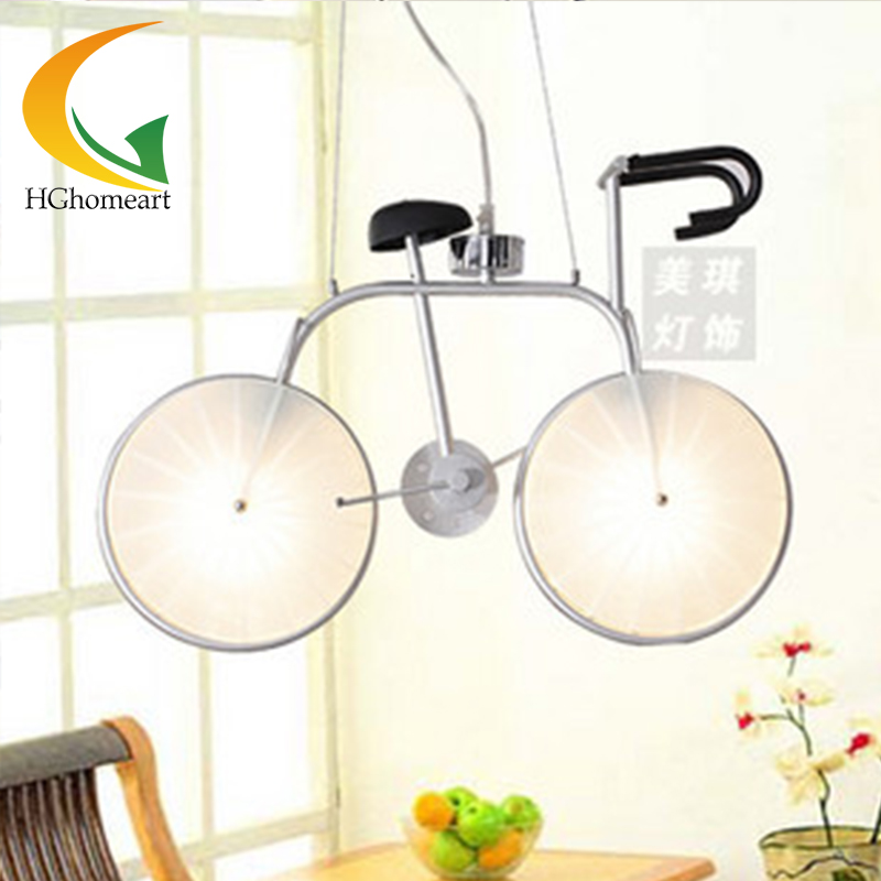 Led modern lighting cartoon pendant light child lamps bicycle Led fixtures children room home lighting boy room lamp