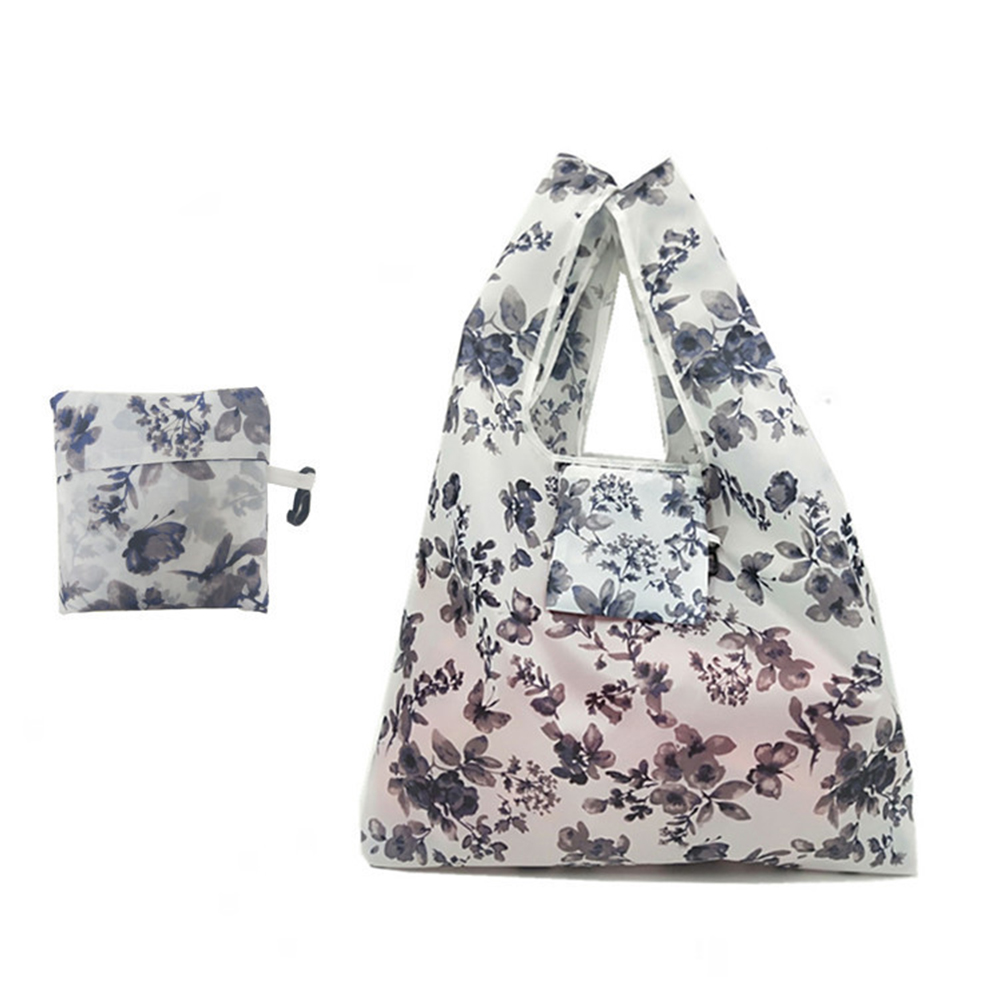 Polyester Causal Shopping Bag Pouch Folding Women Reusable Portable Tote Simple Fashion Storage Eco-friendly Large