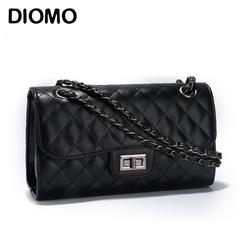 DIOMO classic crossbody bag for women quilted diamond lattice women messenger bag female chain bags hmily genuine leather crossbody bag female diamond lattice messenger bag luxury socialite daily bag chaibs style women bag