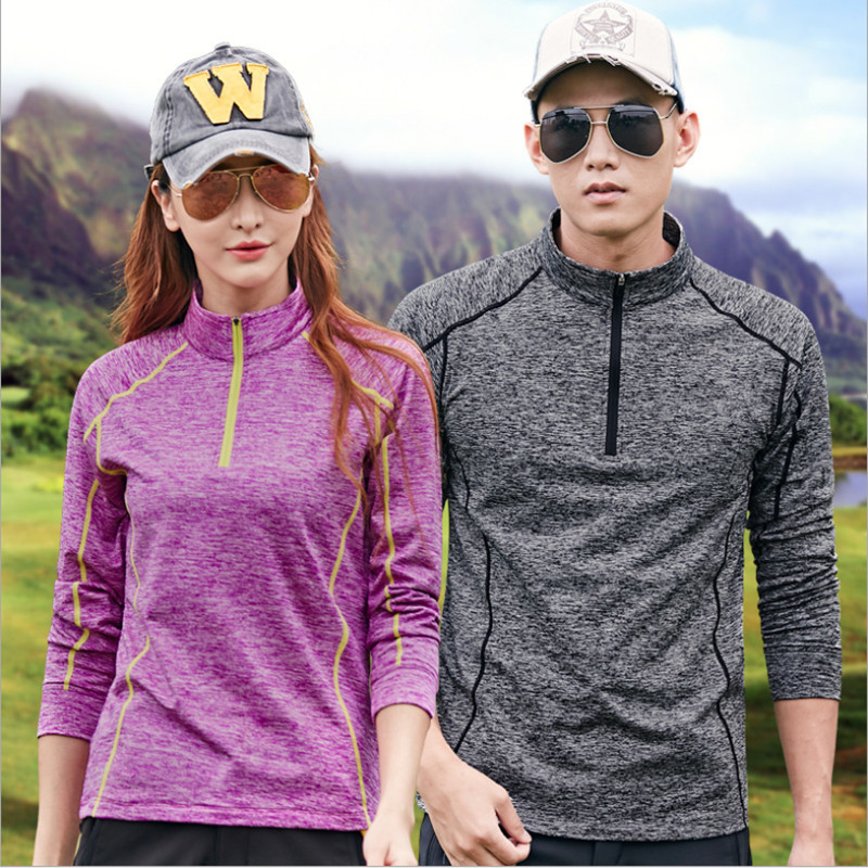 2018 NEW High Quality Mountaineering Clothes Summer Autumn Men/Women T-shirt Tights Long Sleeve Tops&Tees Quick Drying T-Shirt available from 10 11 asics mountaineering t shirt 134610 8065